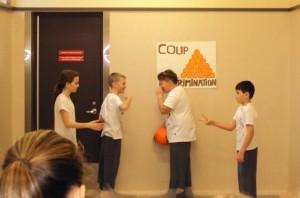 Projet Parts'cours présenté par les élèves de l'école primaire Piché-Dufrost pour prévenir l'intimidation à l'école : Les rumeurs