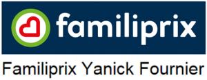 Logo Familiprix et nom Yanick Fournier - RECT