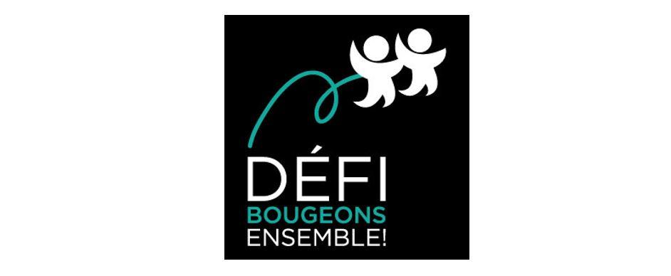 Logo noir du Défi Bougeons ensemble Image à la une pour le Web