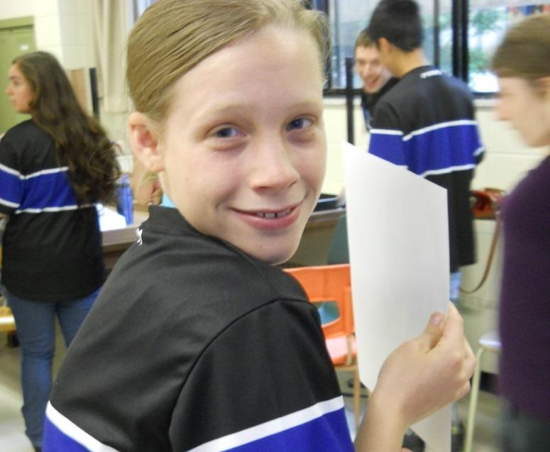 Photo d'une élève de l'école secondaire de la Magdeleine à La Prairie au Défi sportif AlterGo 2016