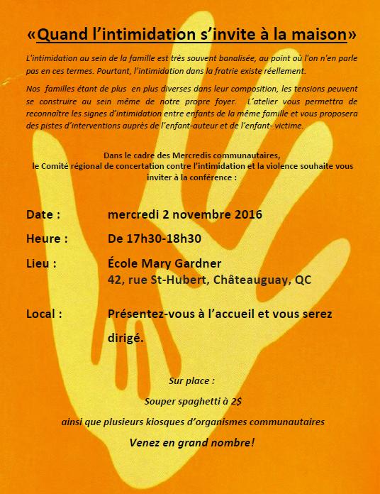 Invitation conférence 2 novembre 2016 image pour le Web