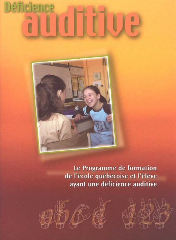 Programme de formation - Déficience auditive