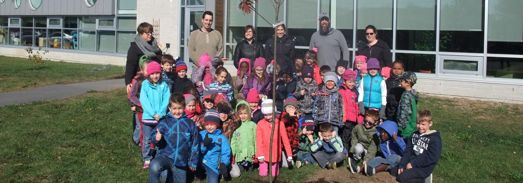 L'école primaire des Bons-Vents à Mercier prend racine… sept fois plutôt qu'une!