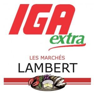 Logo complet IGA les Marchés Lambert