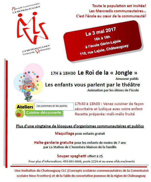 Annonce Mercredi communautaire 3 mai 2017
