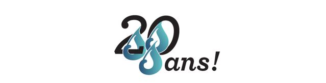 Visuel logo 20 ans école des trois-sources pour le Web