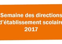 Entête Semaine des directions établissement 2017