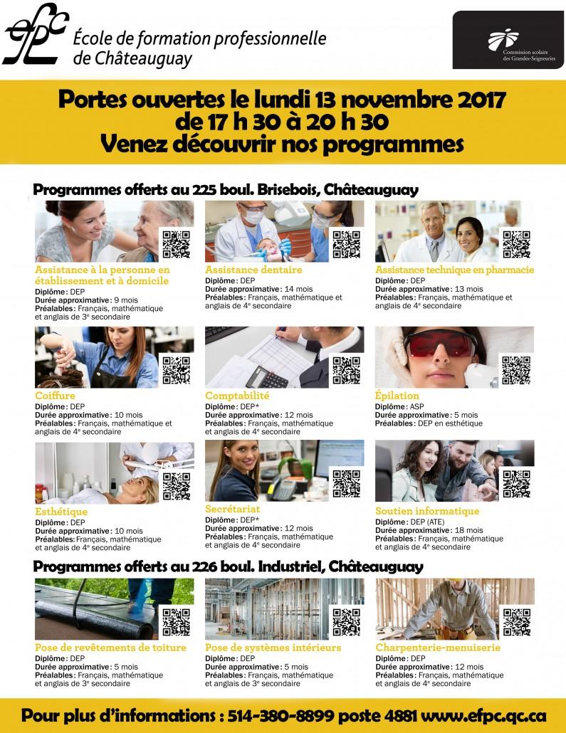Portes ouvertes EFPC 2017-2018