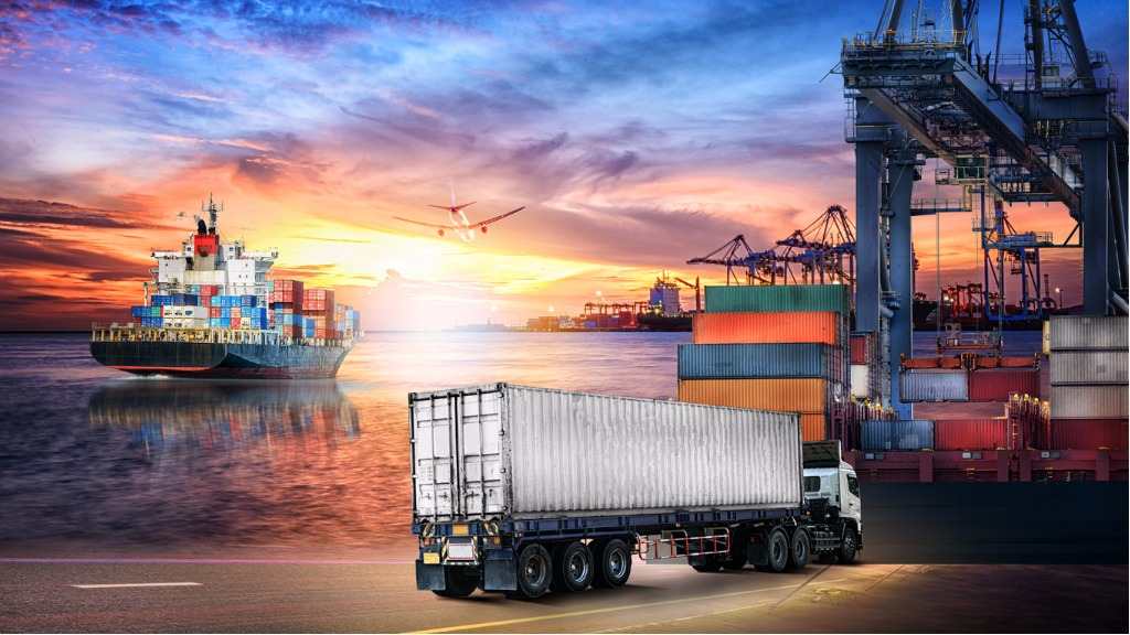 logistics-import-export-background-and-transport-industry-of-truck-picture-id656525988