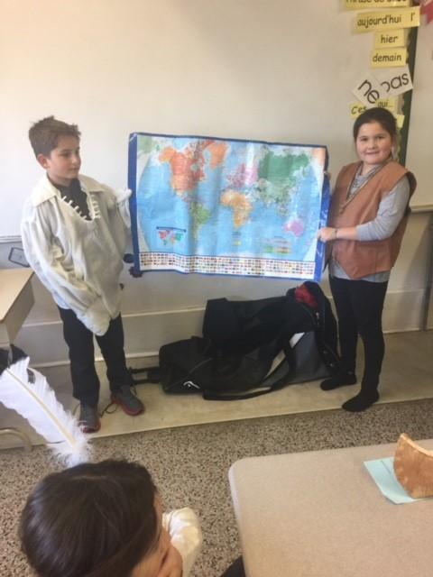Photo élèves Daigneau en Amérindiens 03