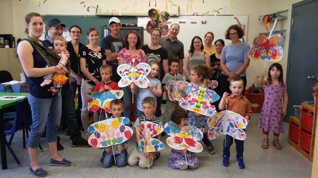 L'envol des papillons vers la maternelle à l'école Saint-Bernard